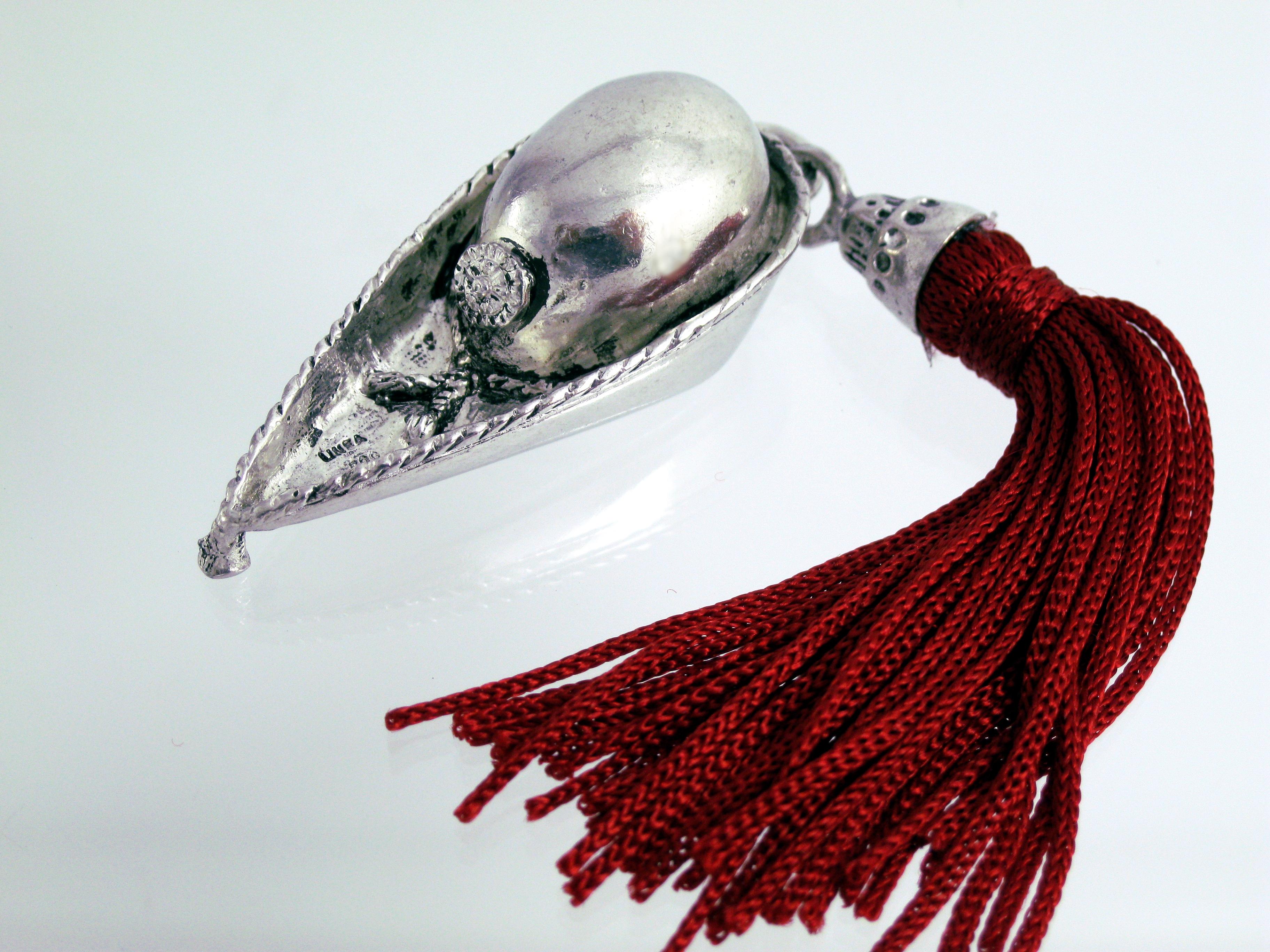 Calamaio bomboniere laurea argento penna piuma fortuna for Laurea in design