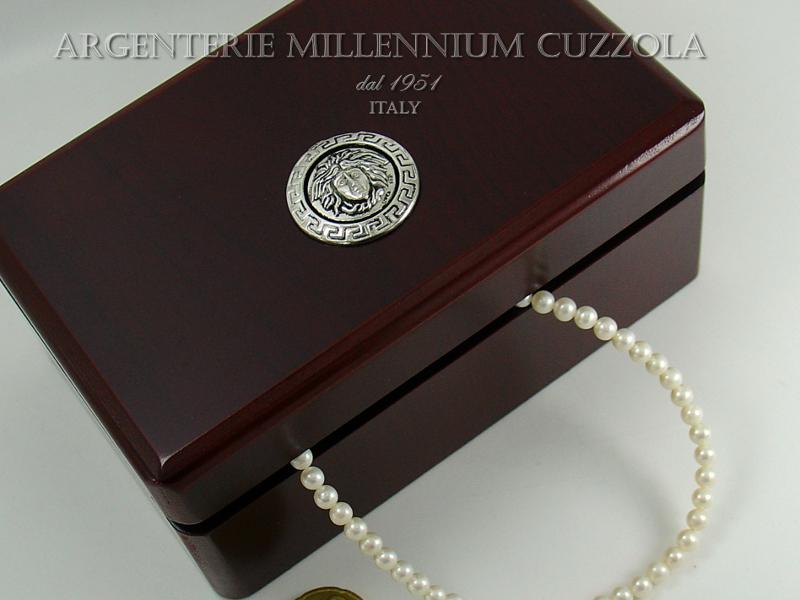 Portagioie cofanetto medusa argento magna grecia jewelry - Portagioie argento ...