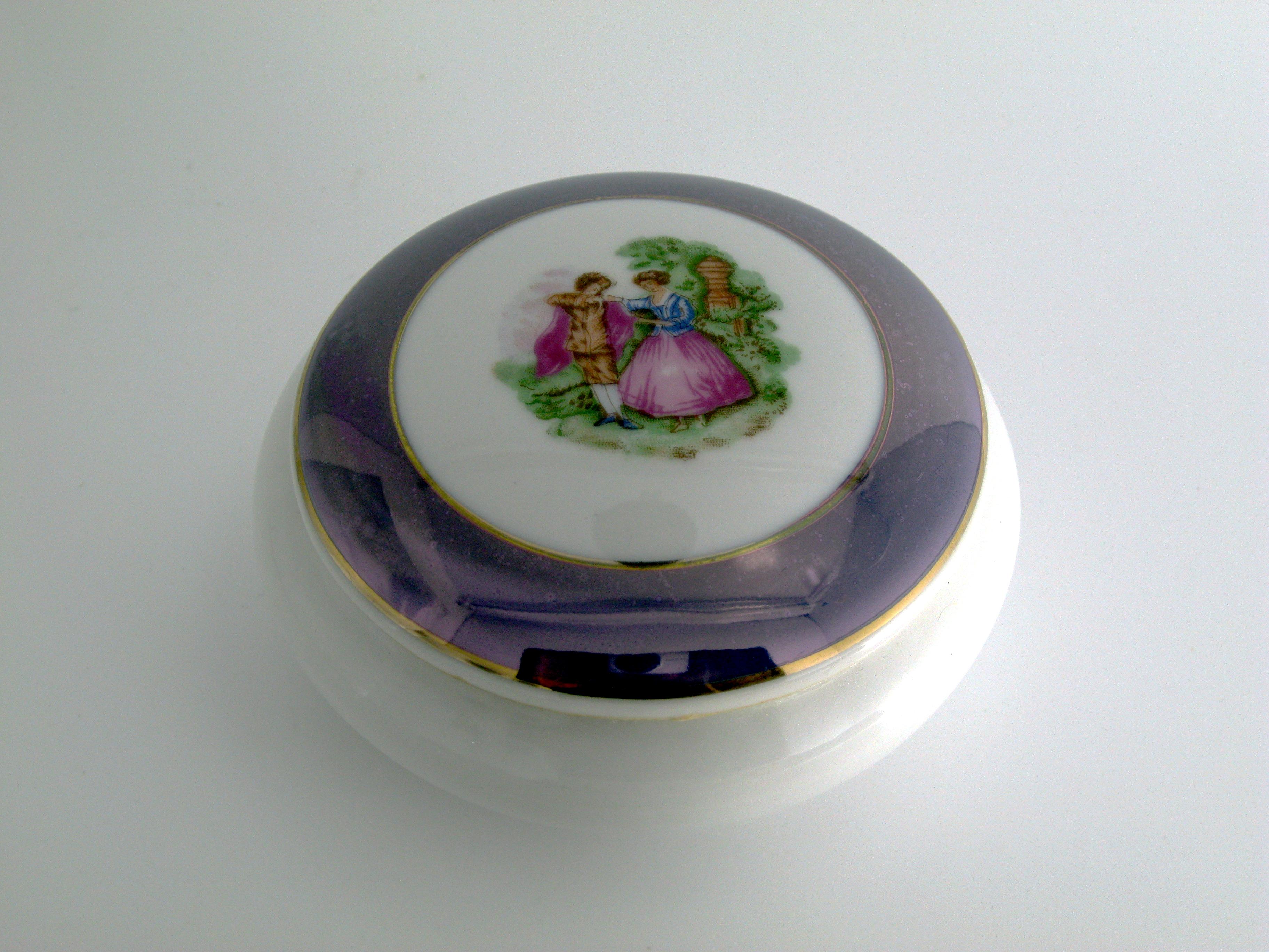 Dettagli su bomboniere matrimonio capodimonte scatolina cofanetto
