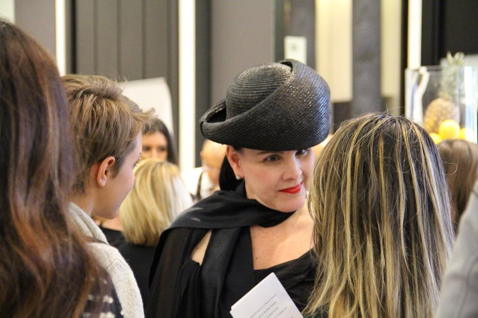 patricia al'kary all'evento alla white gallery bags