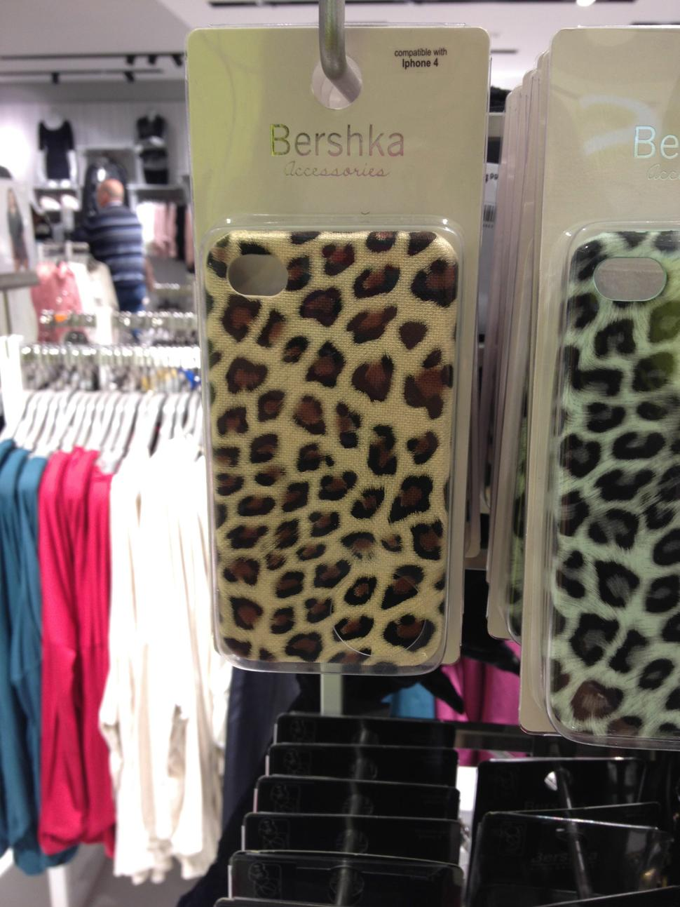 iphone case leopardato bershka