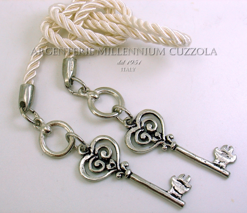 Bomboniere Matrimonio Ebay.Keys Silver Bookmark Favours Wedding Communion Confirmation