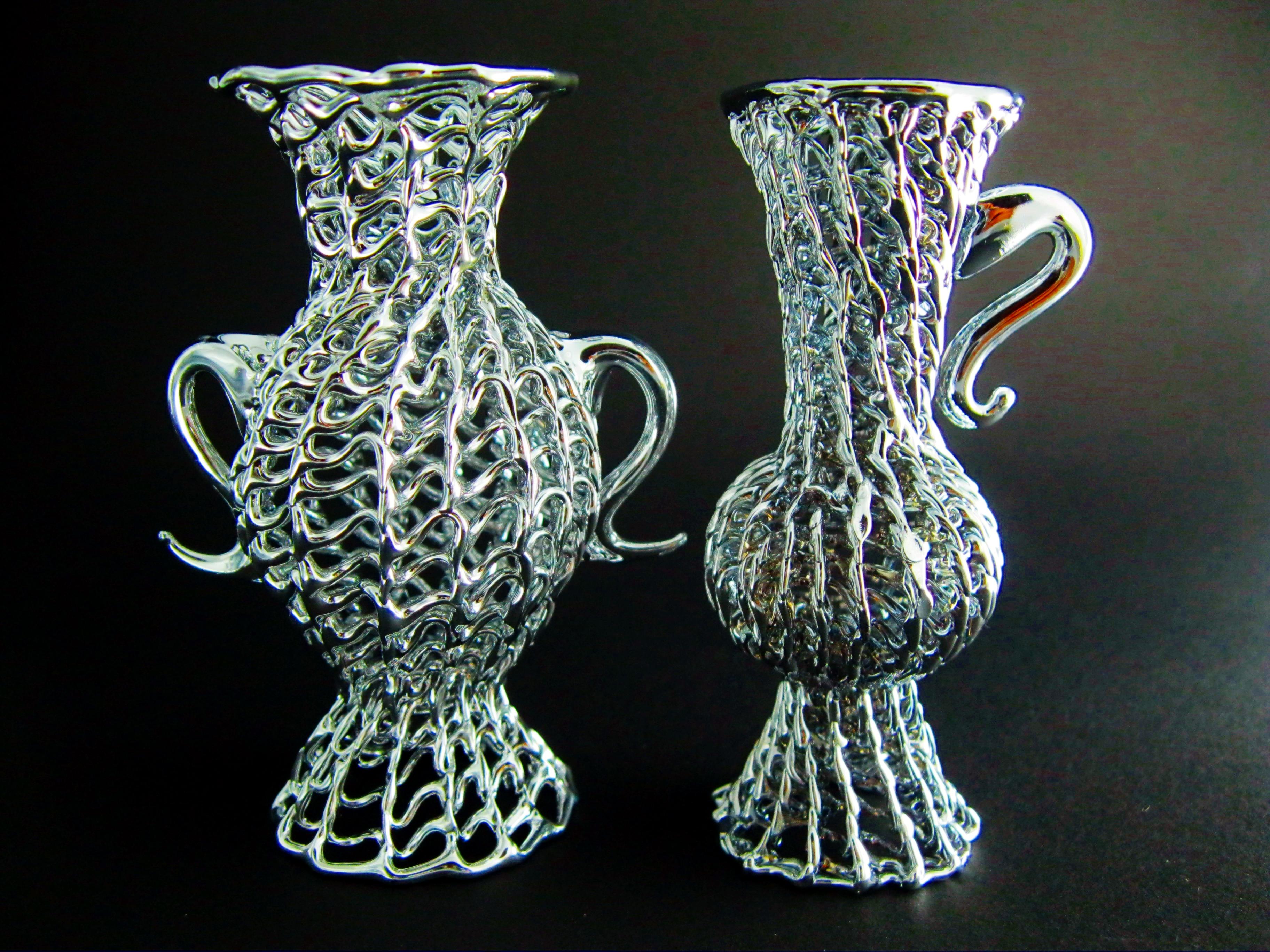 Vasetti anfore vasi vetro argento bomboniere matrimonio for Vasi ermetici vetro
