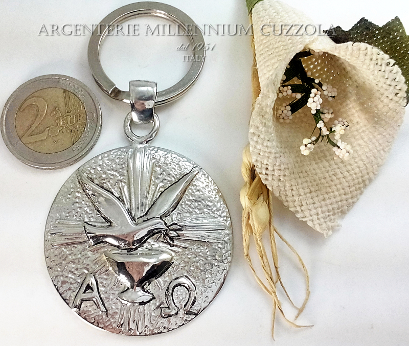 Spirito Santo Religione Wedding Favors Silver Confirmation Communion