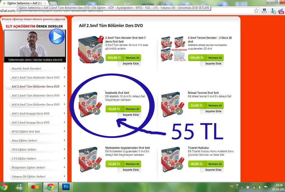 Adsz - AÖF İstatistik dersi videolu anlatım CD'lerimi satıyorum...