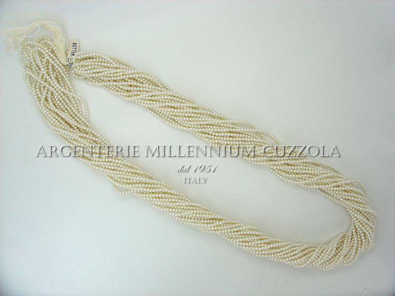 Perle filo 560 perline cerate vetro infilate 3 mm 150 cm collana ...