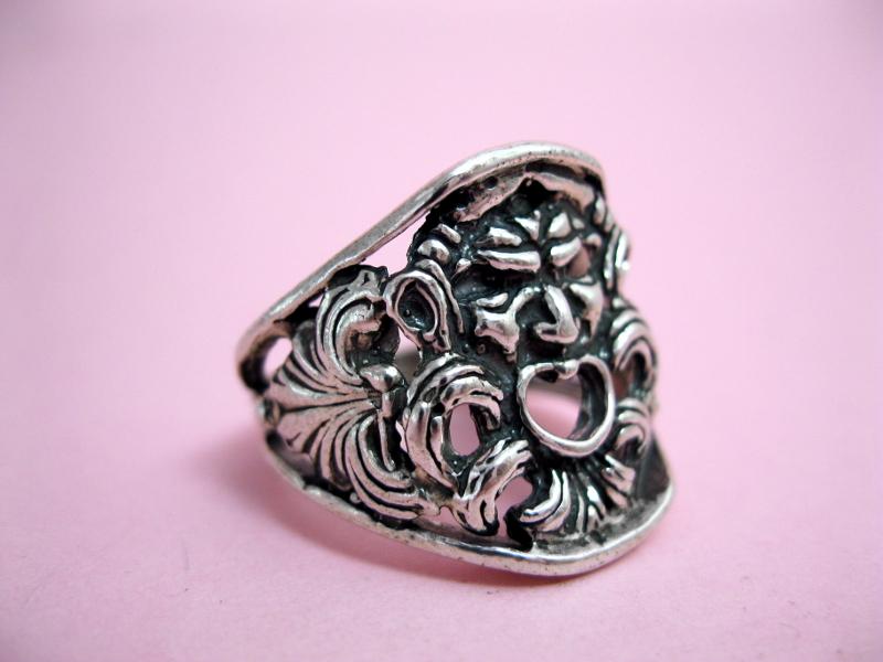 Anello argento magna grecia anelli maschera antica kroton - Mitologia greca mitologia cavallo uomo ...