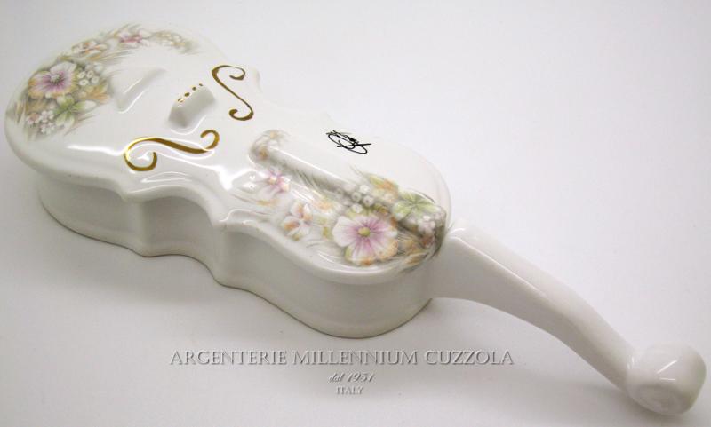 Ebay Bomboniere Matrimonio.Violino Bomboniere Ceramica Portagioie Matrimonio Laurea