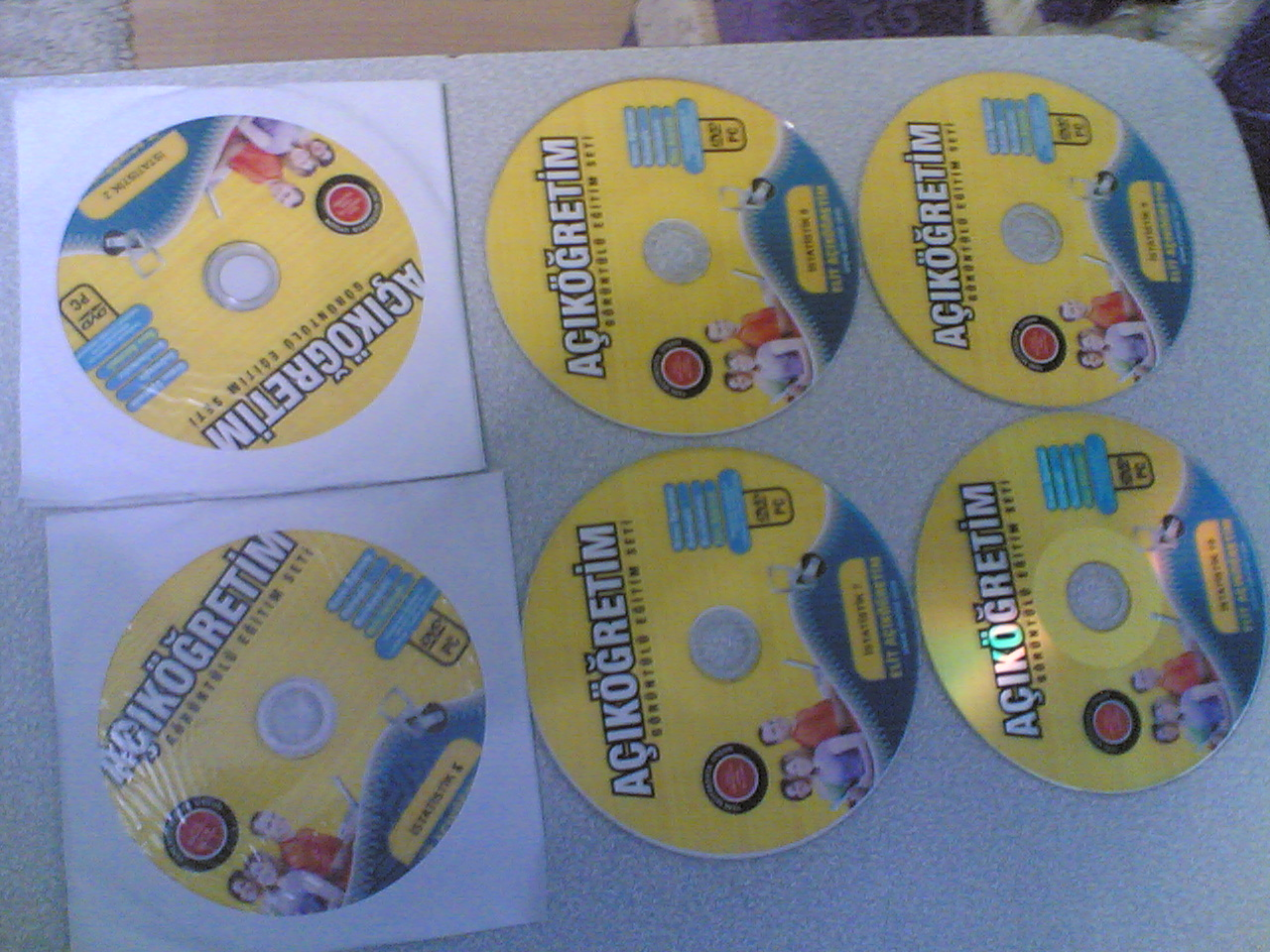 07102012003 - AÖF İstatistik dersi videolu anlatım CD'lerimi satıyorum...