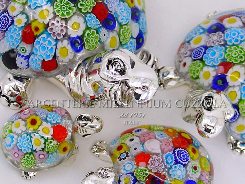 Tartaruga vetro murano murrina argento silver glass turtle for Tartaruga prezzo