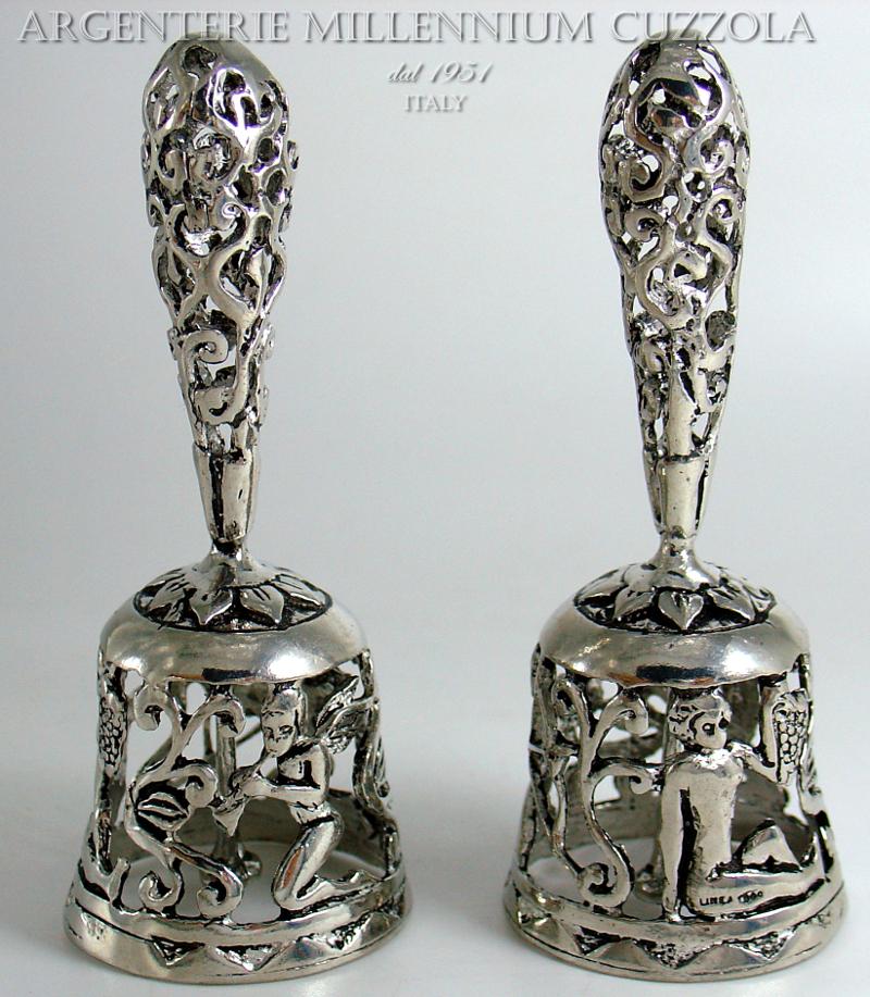 Bell Wedding Favors Little Bell Silver Wedding Communion Cupid