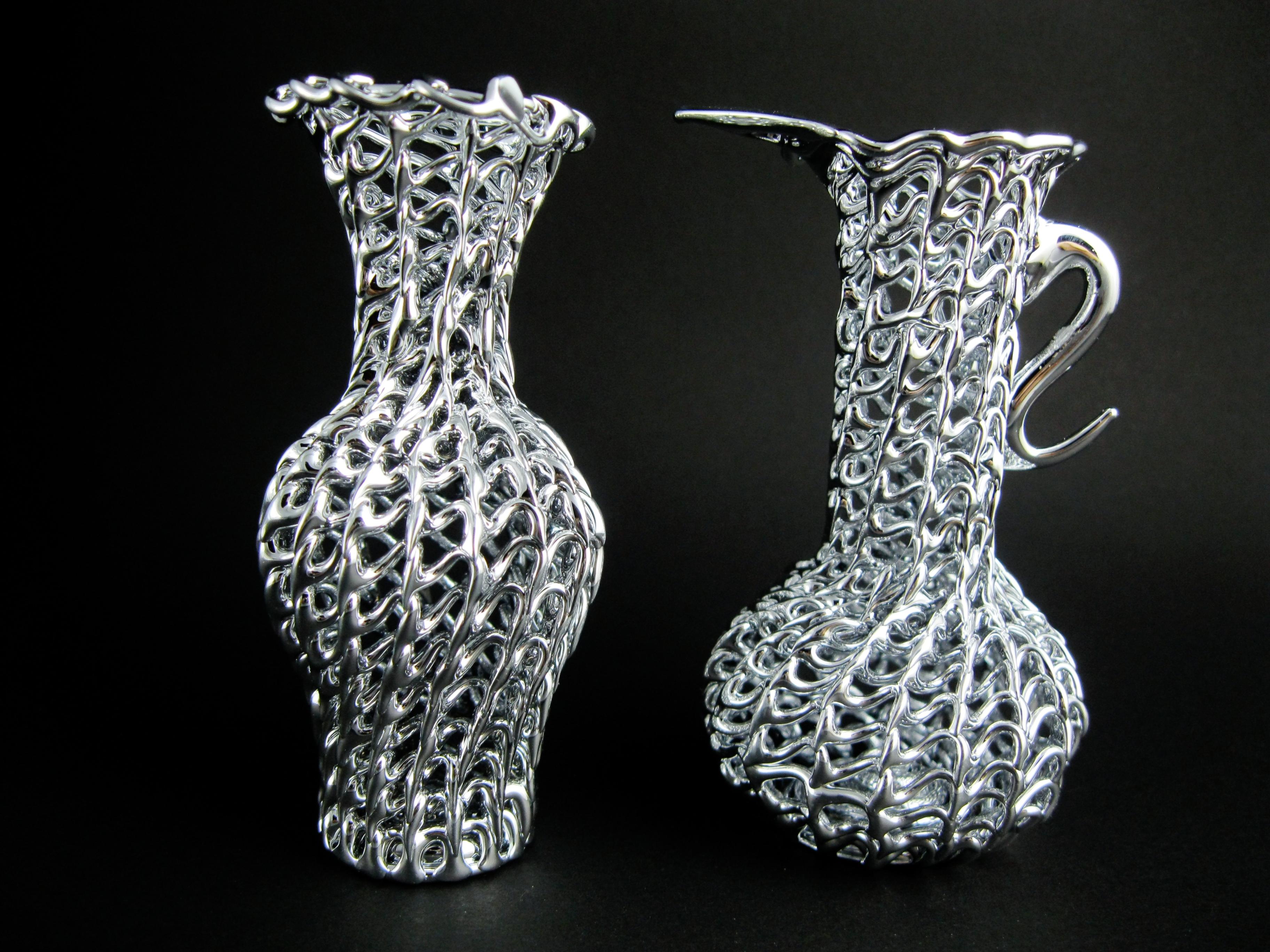 Vasetti anfore vasi vetro argento bomboniere matrimonio for Decorazione vasi