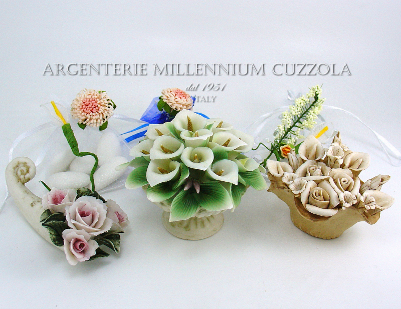 Ebay Segnaposto Matrimonio.Favours Baskets Calle Porcelain Placeholder Communion Wedding