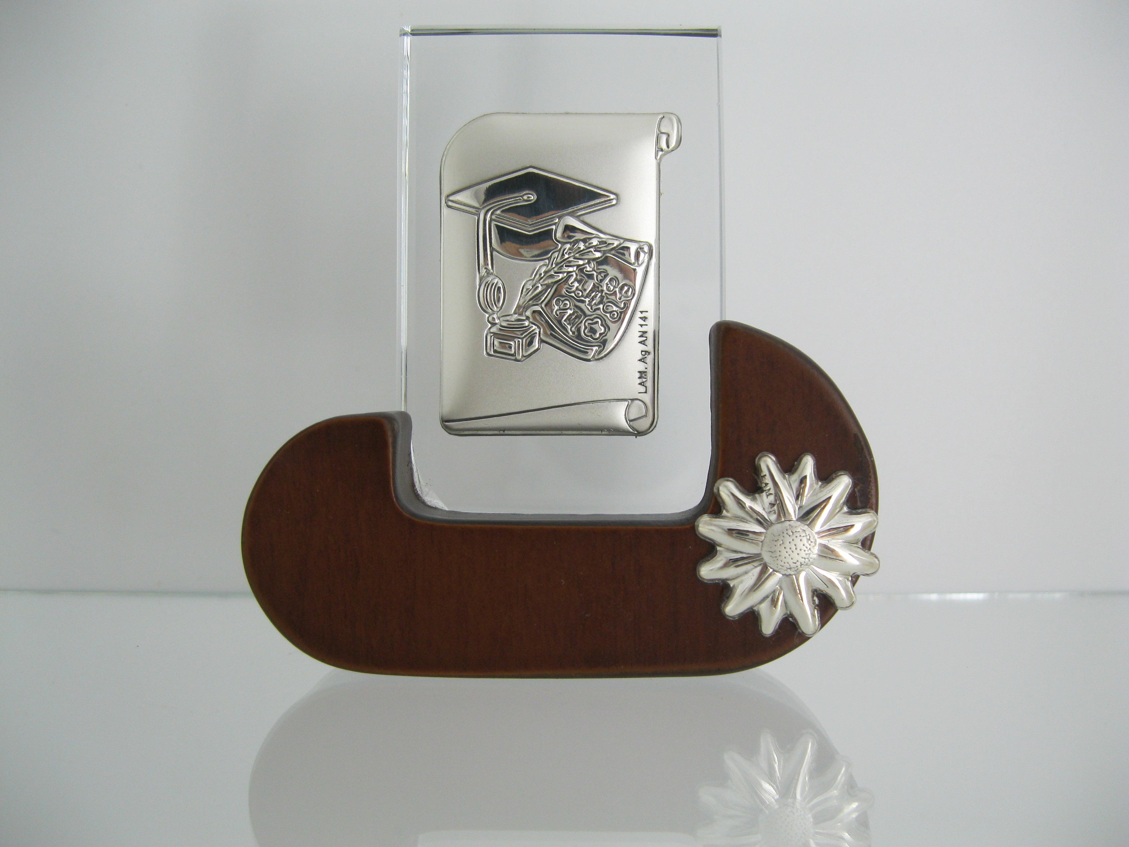 pergamena cappello tocco calamaio bomboniere crsitallo argento laurea facolta 39 ebay. Black Bedroom Furniture Sets. Home Design Ideas
