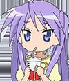 Kagami eats spaghetti
