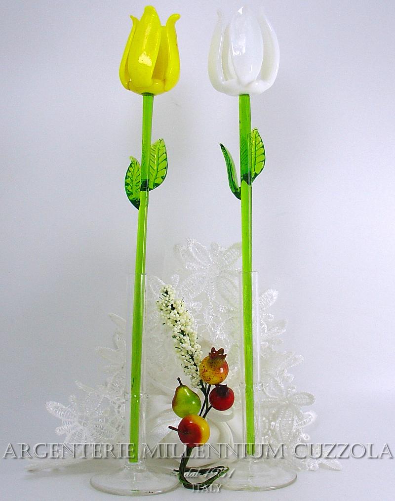 Segnaposto Matrimonio Ebay.Favours Flowers Glass H22 Placeholder Communion Wedding