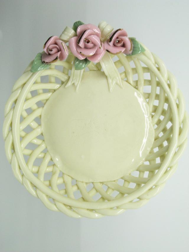 bomboniere hochzeit korb keramik mit blumen rosen porzellan vintage angebote ebay. Black Bedroom Furniture Sets. Home Design Ideas