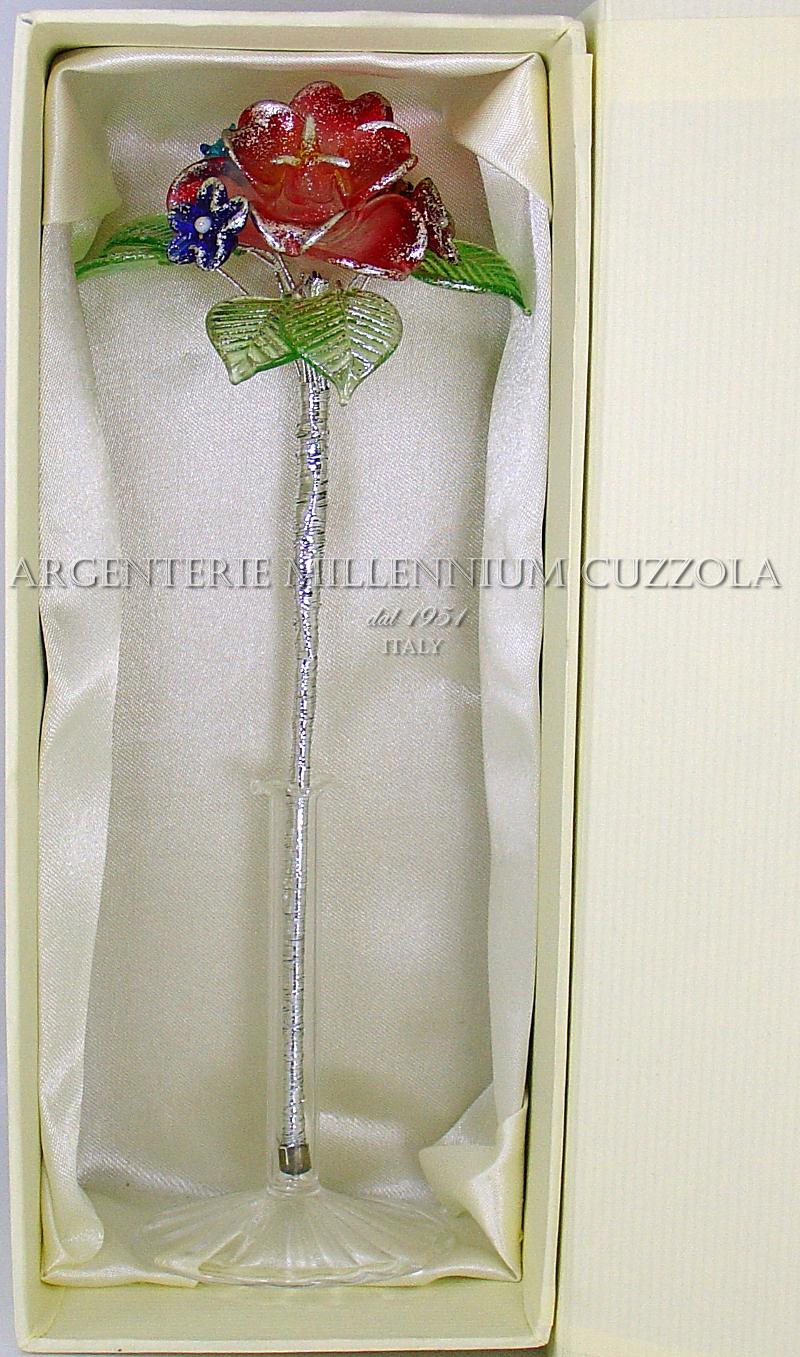 Segnaposto Matrimonio In Vetro.Favours Flowers Glass H22 Placeholder Communion Wedding