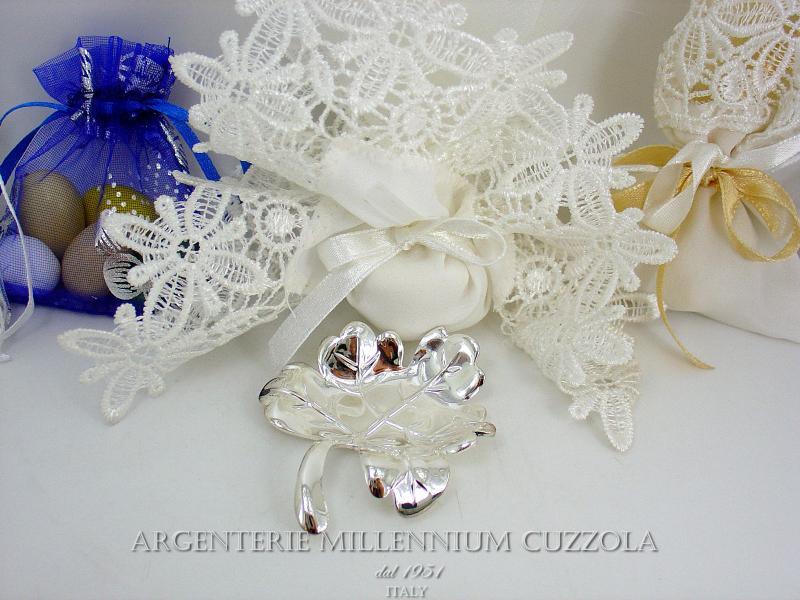 Bomboniere nozze argento foglia matrimonio 25 edera for Bomboniere per i 25 anni di matrimonio