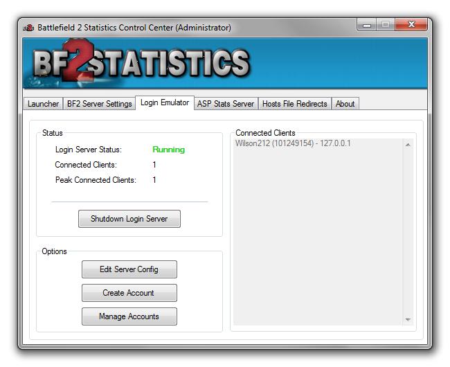 Battlefield SinglePlayer Forum > BF2Statistics Control Center