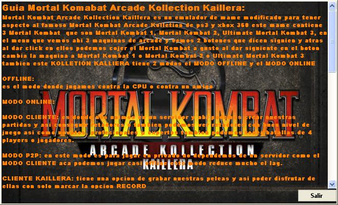 Mortal Kombat Arcade Kollection Kaillera - Página 3 GUIA