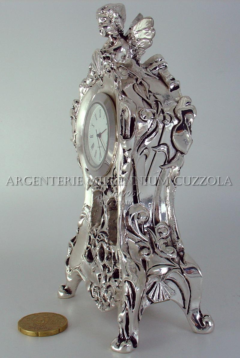 Orologio stile barocco argento soprammobile angelo stile for Ebay classico