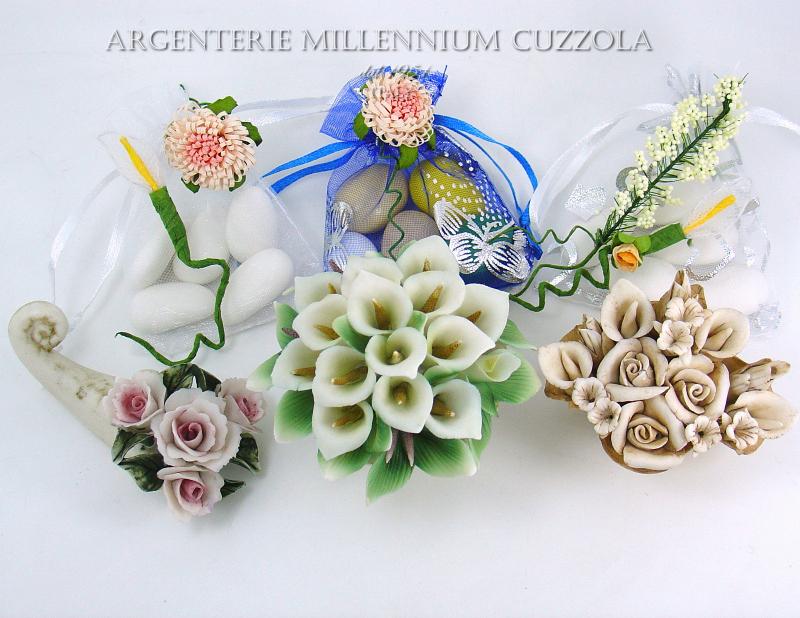 Segnaposto Fiori Matrimonio.Favours Baskets Calle Porcelain Placeholder Communion Wedding