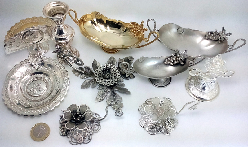 Stock Bomboniere Matrimonio.Offers Stock Favours Candleholder Saucers Serviette Wedding Silver