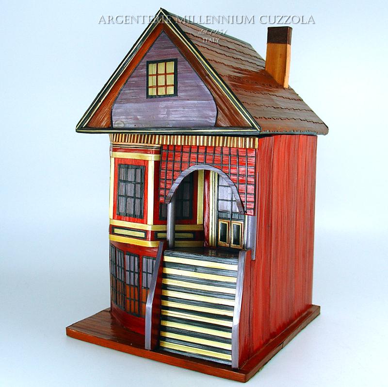 Casetta cofanetto portaoggetti bomboniera gioie legno for Regali per venticinquesimo