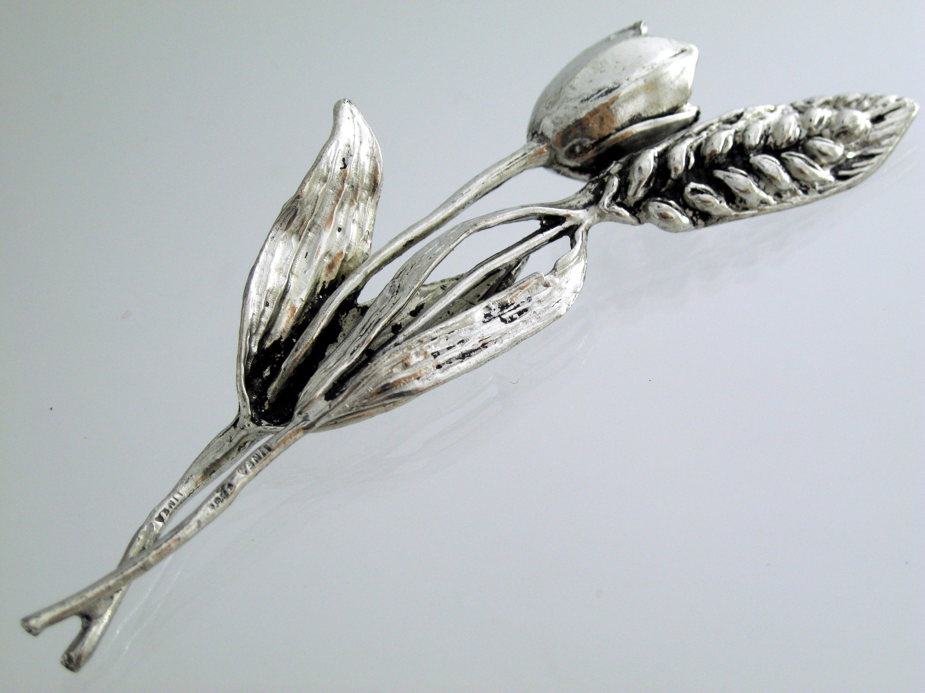bomboniere argento spiga tulipano bomboniera comunione cresima matrimonio laurea ebay. Black Bedroom Furniture Sets. Home Design Ideas