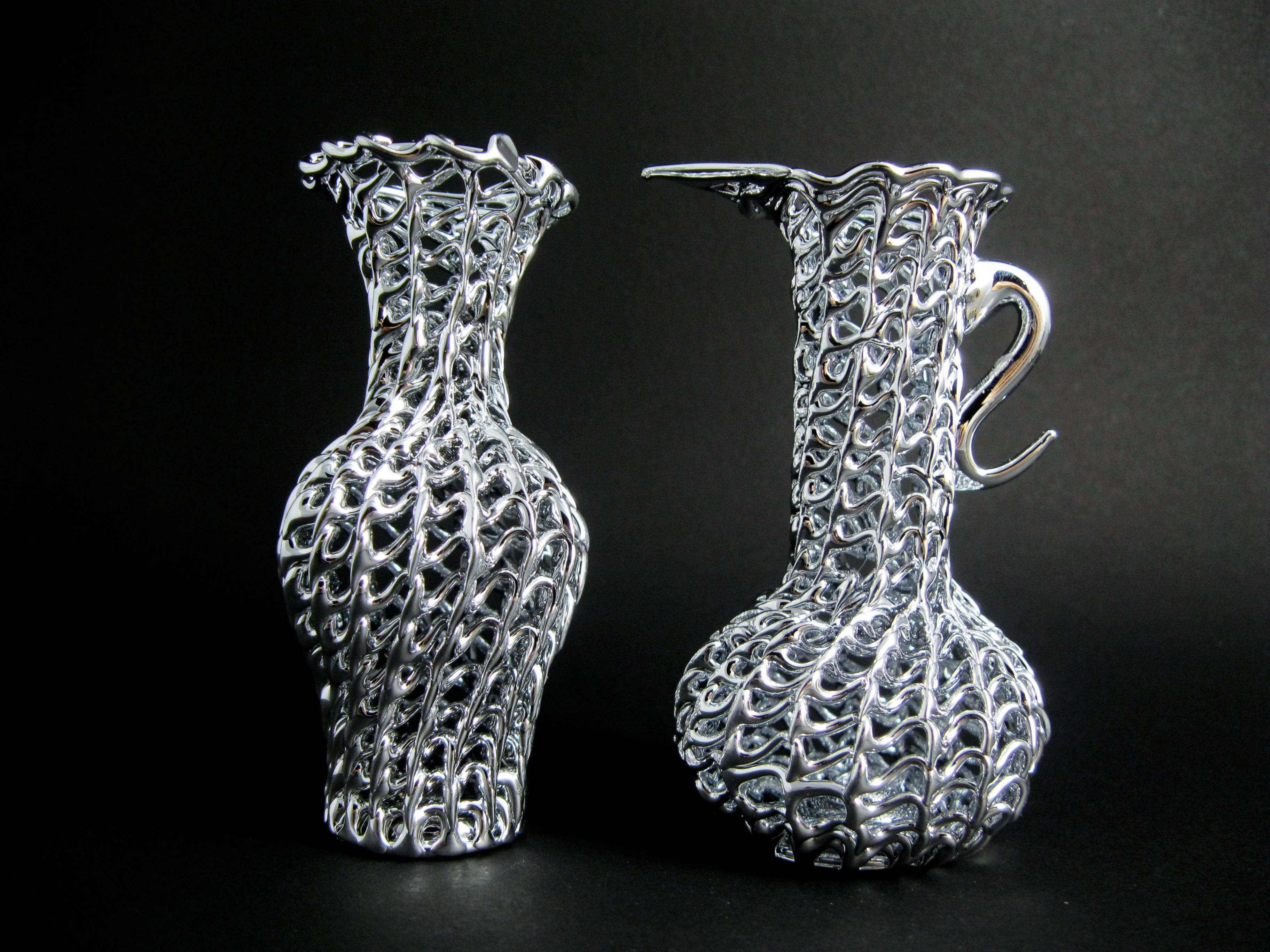 Bomboniere Argento Matrimonio Prezzi.Glass Jars Triple Vases Silver Wedding Favours Anforette Vintage