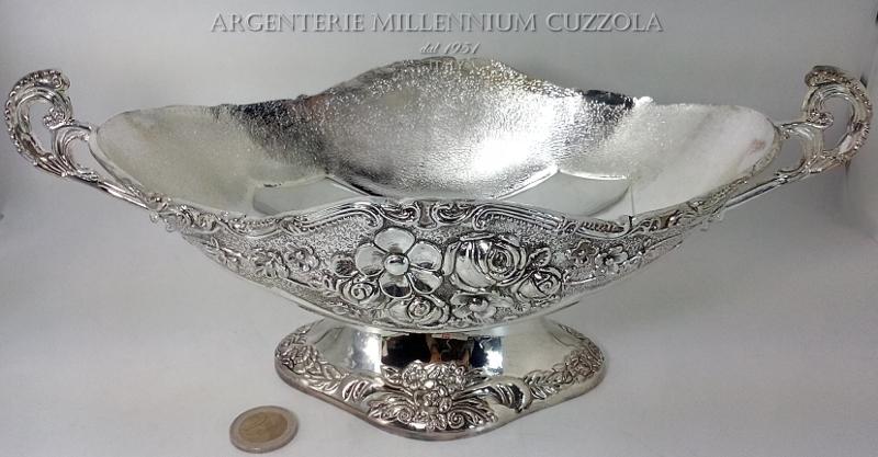 Jatte coppa centrotavola laminato argento svuotatasche - Centrotavola argento moderno ...